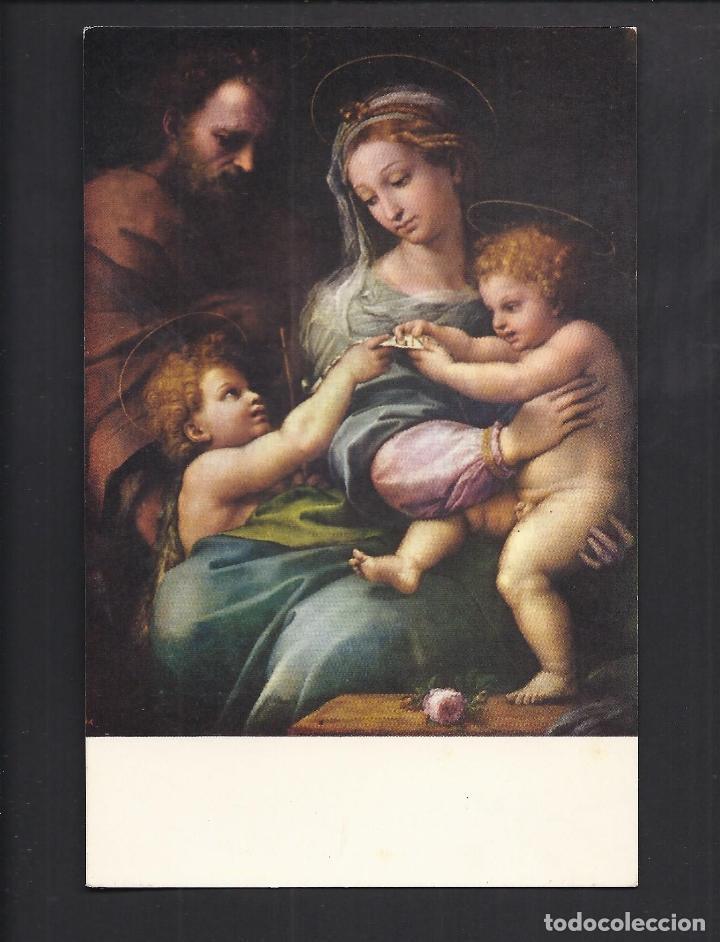 POSTAL RELIGIOSA. LA VIRGEN DE LA ROSA . RAFAEL. MUSEO DEL PRADO. (Postales - Postales Temáticas - Religiosas y Recordatorios)