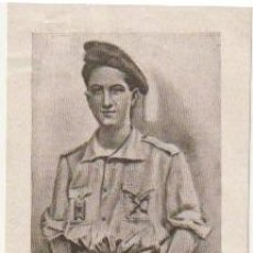 Postales: ESTAMPA ANTONIO MOLLE LAZO 1915 1936 MUERTO EN DEFENSA DE CRISTO REY - C-35. Lote 107800123