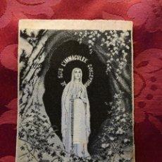 Postales: ESTAMPITA RELIGIOSA AÑOS 20 TEXTIL. Lote 107905031