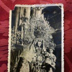Postales: ESTAMPITA RELIGIOSA AÑOS 50 VIRGEN CARMEN JEREZ . Lote 107905103