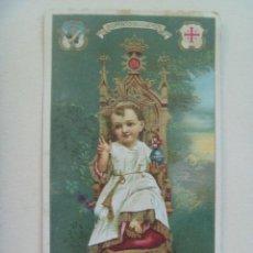 Postales: ESTAMPA MUY ANTIGUA Y EN LATIN : NIÑO JESUS ADORADO EN LA EPIFANIA, BELEN . BETHLEHEM.. Lote 107956563