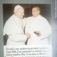 Postales: ESTAMPA POSTAL JUAN PABLO II BENDICIÓN. Lote 109018024