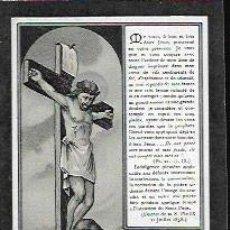 Postales: RECORDATORIO DEFUNCIÓN AÑO 1909 ( BÉLGICA ). Lote 162956390