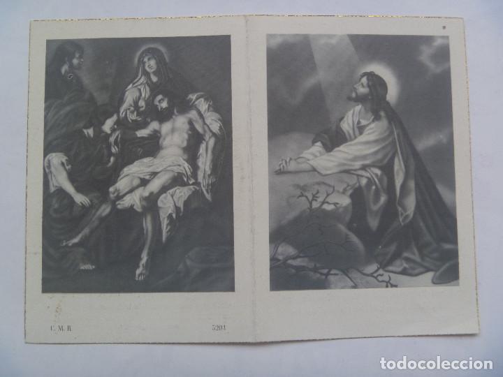 RECORDATORIO DE SEÑORA FALLECIDA EN MADRID EN 1956 (Postales - Postales Temáticas - Religiosas y Recordatorios)