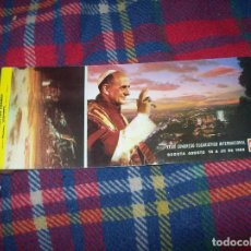 Postales: 10 POSTALES TIPO CHEQUERA DEL XXXIX CONGRESO EUCARÍSTICO INTERNACIONAL.BOGOTÁ 1968. . Lote 109343715