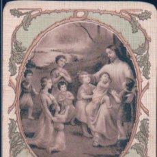 Postales: ESTAMPA DEJAD QUE LOS NIÑOS SE ACERQUEN A MI - JESUS RODEADO DE NIÑOS. Lote 109451319
