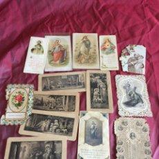 Postales: LOTE DE ESTAMPAS RELIGIOSAS SIGLO XVIII/XIX. Lote 110315706