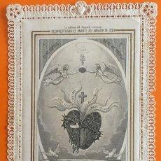 Postales: ESTAMPA RELIGIOSA- SAGRADO CORAZON DE JESUS- J. PENA- BARCELONA- PUNTILLA CALADA. Lote 110463539