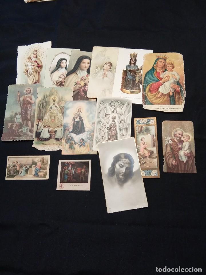 LOTE DE 12 ESTAMPAS RELIGIOSAS ANTIGUAS DE COLOR (Postales - Postales Temáticas - Religiosas y Recordatorios)