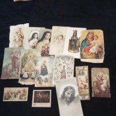 Postales: LOTE DE 12 ESTAMPAS RELIGIOSAS ANTIGUAS DE COLOR. Lote 110791327