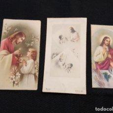 Postales: 3 ESTAMPAS PRIMERA COMUNIÓN. AÑOS 40. Lote 110791891