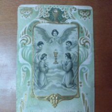 Postales: RECUERDO 1ª COMUNION COLEGIO COMERCIAL DEL SAGRADO CORAZON HERMANOS ESCUELAS CRISTIANAS MANLLEU 1913. Lote 111238323