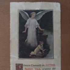 Postales: RECUERDO 1ª COMUNION COL.LEGI SIENA MUTUA ESCOLAR COLL CAPELLA GERMANES DOMINIQUES D'HORTA 1934. Lote 111238531