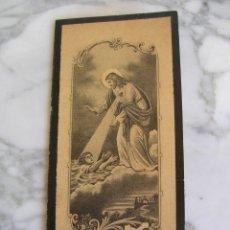 Postales: ESTAMPA RELIGIOSA, ESQUELA, RECORDATORIO, ESTILO MODERNISTA. Lote 112034547