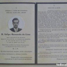 Postales: RECORDATORIO SEÑOR FALLECIDO BAJO EL MANTO DE LA VIRGEN DE BEGOÑA A LOS 31 AÑOS. BILBAO 1946.. Lote 112101995