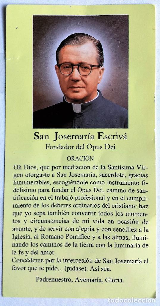 Estampa De San Josemaría Escrivá De Balaguer Co Vendido Por Venda Direta 112617067