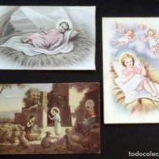 Postales: 3 POSTALES RELIGIOSAS DE LOS AÑOS 40 , CIRCULADAS. Lote 112632279