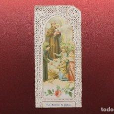 Postales: ESTAMPA RELIGIOSA DE SAN ANTONIO DE PADUA, CALADA. Lote 112740743