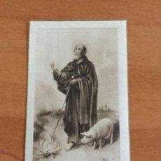 Postales: POSTAL SAN ANTONIUS ABBAS. EJERCICIOS ESPIRITUALES 1948. Lote 112777735
