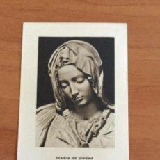 Postales: POSTAL MADRE DE PIEDAD. EJERCICIOS ESPIRITUALES PARROQUIA DE SAN MARTÍN 1956. Lote 112777931