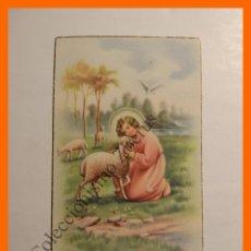 Postales: ESTAMPA RELIGIOSA - NIÑO CON OVEJA. Lote 112846563