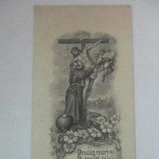 Postales: PRECIOSA ESTAMPA RECUERDO - SETÉ CENTENARI DE LA VOCACIO DE SANT FRANCESCH 1206-1906. Lote 112961719
