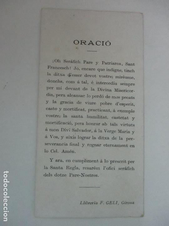 Postales: Preciosa Estampa Recuerdo - Seté Centenari de la Vocacio de Sant Francesch 1206-1906 - Foto 3 - 112961719