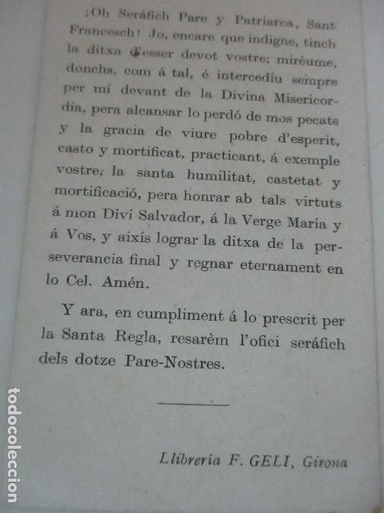 Postales: Preciosa Estampa Recuerdo - Seté Centenari de la Vocacio de Sant Francesch 1206-1906 - Foto 4 - 112961719