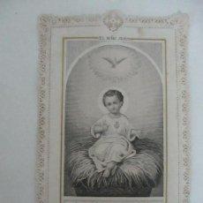Postales: PRECIOSA ESTAMPA RECUERDO - PAPEL TROQUELADO Y CALADO - S. XIX. Lote 112965451