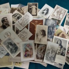 Postales: LOTE DE 100 ESTAMPAS Y RECORDATORIOS. Lote 112965583