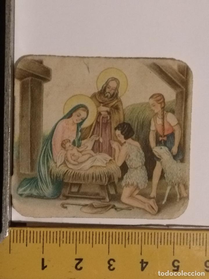 ANTIGUO CROMO ORIGINAL TROQUELADO, RELIGIOSO INFANTIL NACIMIENTO BELEN NIÑO JESUS VIRGEN (Postales - Postales Temáticas - Religiosas y Recordatorios)