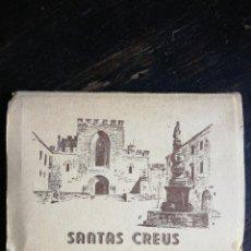 Postales: POSTAL - ACORDEÓN DE 14 POSTALES DEL MONASTERIO DE SANTAS CREUS TARRAGONA. Lote 113222651