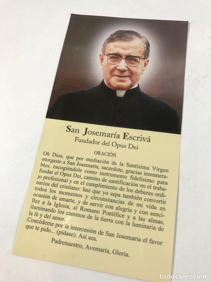 Estampita Oracion San Josemaria Escriva De Bala Buy Religious Postcards And In Memoriam Cards At Todocoleccion 113290627