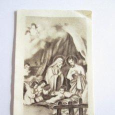 Postales: ESTAMPA NACIMIENTO JESUS - VIRGEN - SAN JOSE - ANGELES. Lote 113396255