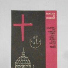 Postales: HOJA PUBLICITARIA DEL DOMUND DEL CONCILIO. 21 DE OCTUBRE 1962. TDKP1. Lote 113999803
