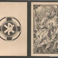 Postales: 3 RECORDATORIOS DEFUNCIÓN DÍPTICOS - VIRELLA Y SOLER - AÑOS 1949,1955. Lote 114476883