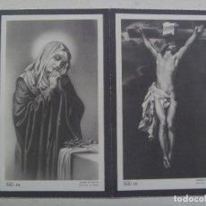 Postales: RECORDATORIO DE SEÑORA FALLECIDA EN 1960. CONGREGANTE STMO. SACRAMENTO Y SANTO ENTIERRO, MADRID. Lote 114479663