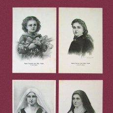 Postales: LOTE DE 4 POSTALES DE SANTA TERESA DE JESÚS - DIBUJADA POR RAMON CASAS Y DIONIS BAIXERAS. Lote 114538719