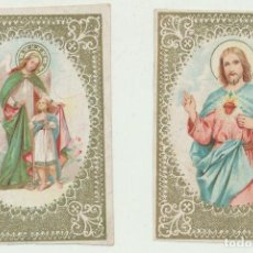 Postales: LOTE DE 2 ESTAMPAS (8,5X5,5) SIGLO XIX-XX.. Lote 114794584