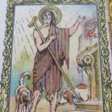 Postales: SANTORAL DEL DIA - SANTO - ESTAMPA O CROMO RELIGIOSA - SAN LAZARO. Lote 115232519