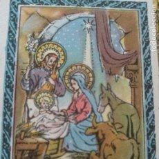 Postales: SANTORAL DEL DIA - SANTO - ESTAMPA O CROMO RELIGIOSA - LA NATIVIDAD DEL SEÑOR - BELEN VIRGEN . Lote 115232867