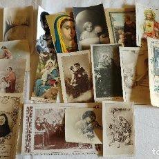 Postales: LOTE DE ORACIONES Y POSTALES Y CONTRASTES ANTIGUAS Y RECORDATORIOS RELIGIOSAS . Lote 115612027