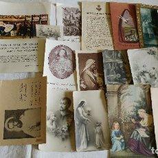 Postales: LOTE DE ORACIONES Y POSTALES Y CONTRASTES ANTIGUAS Y RECORDATORIOS RELIGIOSAS . Lote 115615107