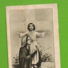 Postales: ANTIGUA ESTAMPILLA RELIGIOSA-ESTAMPA RELIGIÓN - VIRGEN MARIA CON NIÑO -REGINA MARTYRUM ORA PRO NOBIS. Lote 115724827