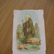 Postales: ESTAMPA RELIGIOSA O RECORDATORIO, ESTILO MODERNISTA, SAN ANTONIO ABAD. Lote 115739127