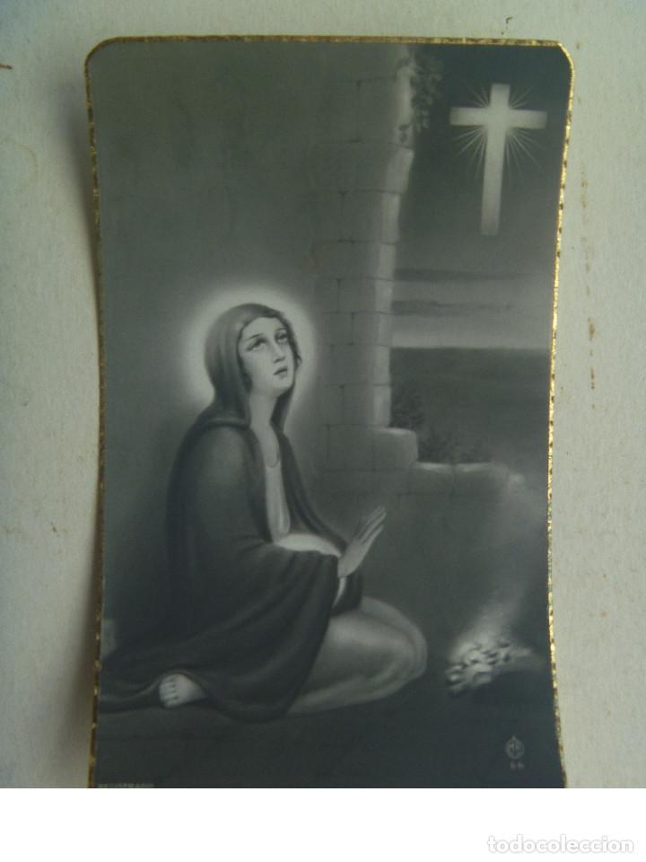 RECORDATORIO SEÑORITA FALLECIDA EN MADRID EN 1948 (Postales - Postales Temáticas - Religiosas y Recordatorios)