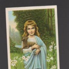 Postales: ANTIGUA ESTAMPILLA RELIGIOSA - ESTAMPA RELIGIÓN - SANTA AGNES - CARME DI PAPA DAMASO - F. CHARDERON. Lote 116171455