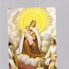 Postales: ANTIGUA ESTAMPILLA RELIGIOSA - ESTAMPA RELIGIÓN - VIRGEN MARÍA CON NIÑO JESÚS Y ÁNGELES. Lote 116325747