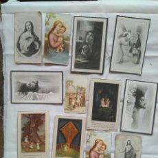 Postales: LOTE 12 ESTAMPAS RELIGIOSAS RECORDATORIOS VIRGEN JESÚS ÁNGEL SAGRADO CORAZÓN AÑOS 40. Lote 116362275