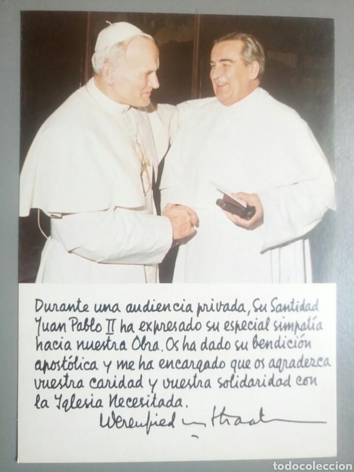 POSTAL ESTAMPA PAPA JUAN PABLO II BENDICION (Postales - Postales Temáticas - Religiosas y Recordatorios)